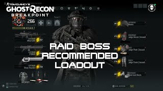 Raid Boss Recommended Loadout in Ghost Recon: Breakpoint