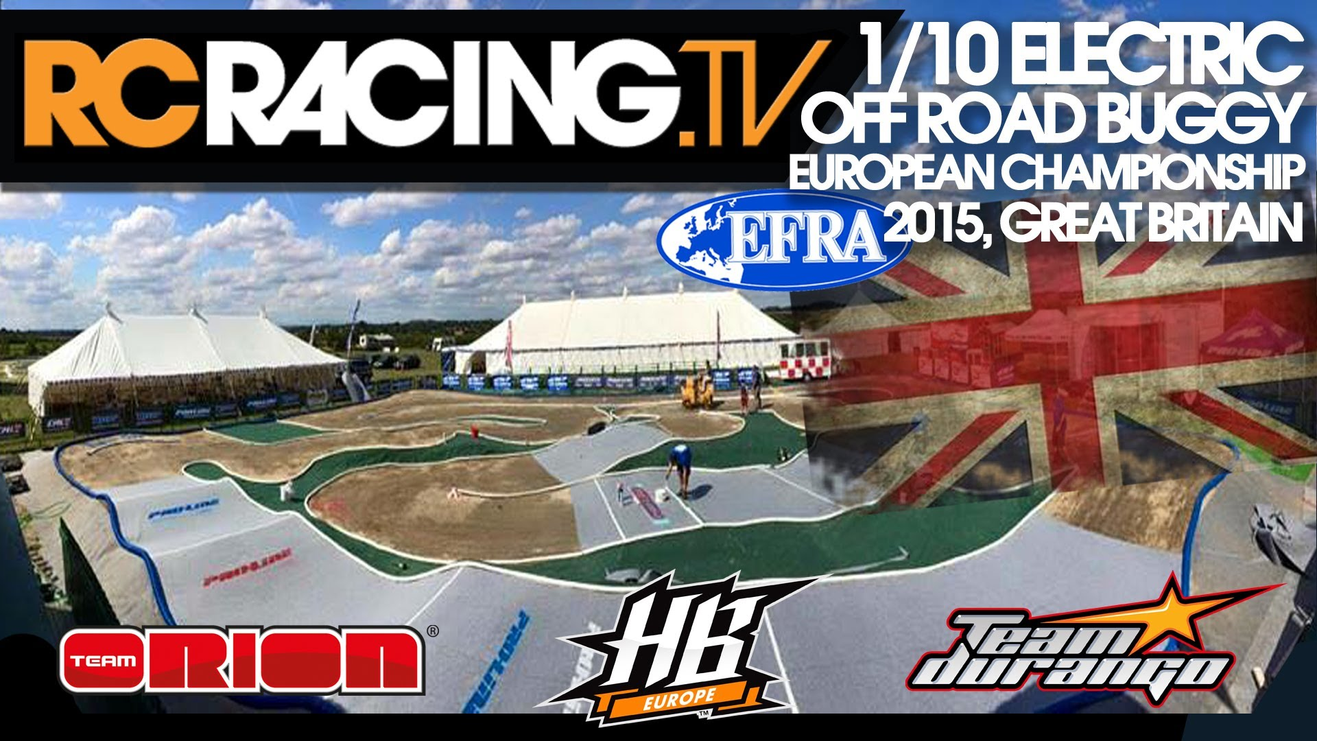 EFRA 1/10th 2WD Off Road Euros 2015- Monday Practice - Live!