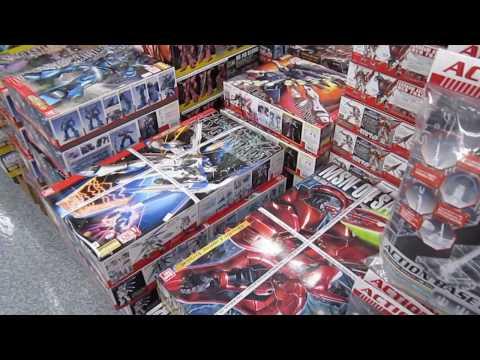 The best Gundam store 2 - Yodobashi Camera in Osaka in HD 大阪のヨドバシカメラ