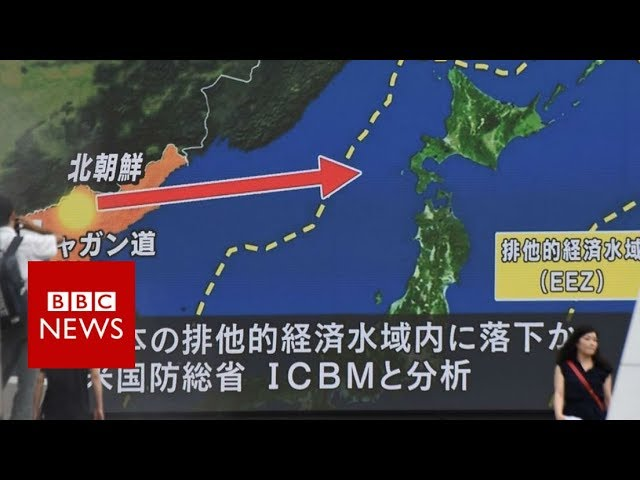 North Korea fires missile over Japan in 'unprecedented threat'- BBC News