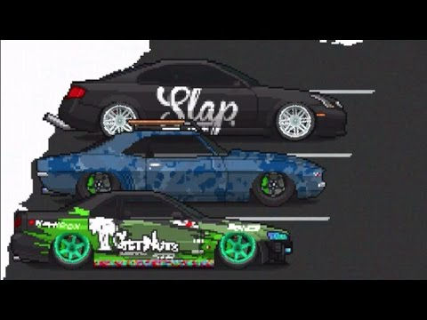 mobile ios pixel car racer snow update slap paint 2000hp club pixel