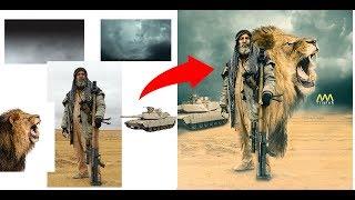 Adobe Photoshop Tutorial : Iraqi Sniper| القناص ابو تحسين