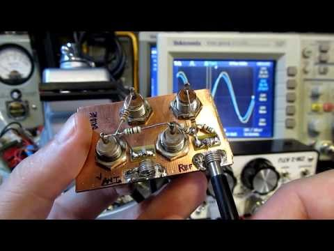 #112: Use an Oscilloscope and Signal Generator help tune an HF Antenna. measure complex impedance