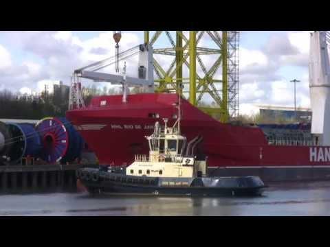 Hansa Heavy Lift Ship HHL Rio De Janeiro on the River Tyne 17th April 2015