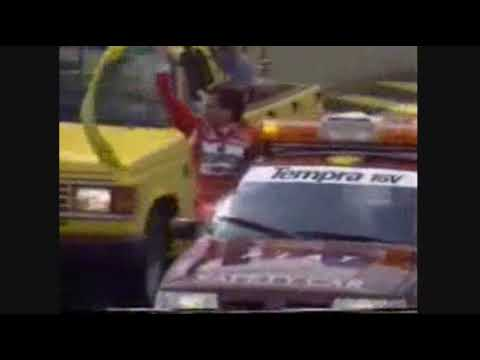 A montage of some significant events in Ayrton Senna's career, including his first victory and first championship.