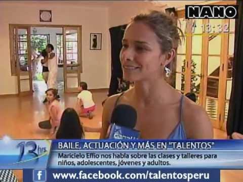 Maricielo Effio inaugura ciclo Verano 2012 en academia Talentos (13 Hrs. 05-01-2012)