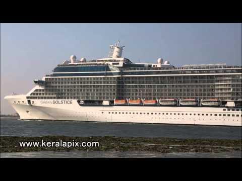 Cruise Ship M V Celebrity Solstice in Kochi.mp4