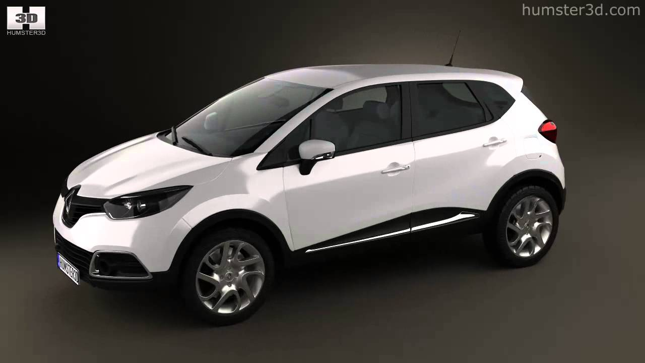 renault captur 2014 by 3d model store youtube. Black Bedroom Furniture Sets. Home Design Ideas