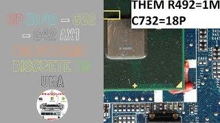Laptop HP CQ42 DA0AX1MB6H1 Rev H  Conversion Discrete To UMA