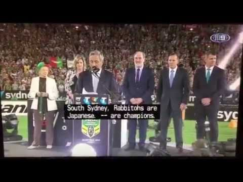 Tony Abbott booed by crowd at NRL grand final