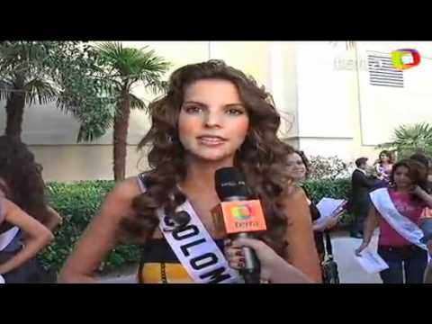 Natalia Navarro Miss Colombia Universe 2010 Interview at Mandalay Bay Hotel