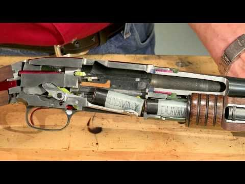 Gunsmithing - How a Winchester Model 12 Works -  Cycle of Operation