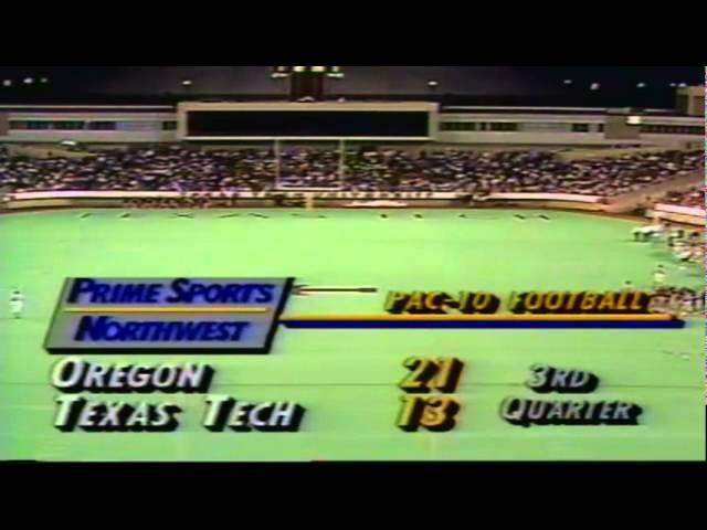 Oregon WR Ronnie Harris 5 yard touchdown catch vs. Texas Tech 9-14-91