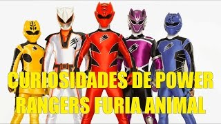 Curiosidades de Power Rangers Furia Animal 2008 (Jungle Fury)