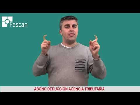 FESCAN. ABONO DEDUCCIÓN AGENCIA TRIBUTARIA 2018