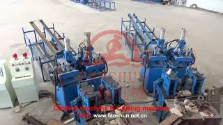 Brass rod continuous casting production line, brass,copper scrap recycle production line