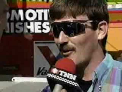 Davey Allison after the 1993 Slick 50 300 at New Hampshire Video