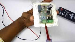 রিমোটের সাহায্যে বাসা-বাড়ির ফ্যান লাইন নিয়ন্ত্রন করুন। fan light control by remote.Remote Control