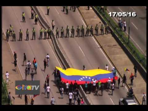 Agresión PNB Parte I 17/05/16 Caracas
