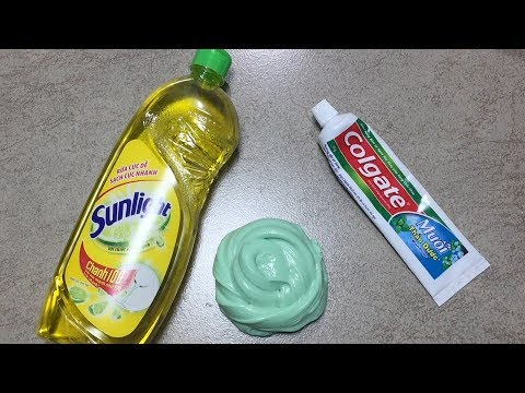Dish Soap and Colgate Toothpaste Slime!!How to Make Slime Soap Salt and Toothpaste!!Must Watch !!!