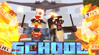 Minecraft School | Military School of Mods - Guns on The First Day of Class! (Guns, Zombies, School)