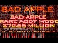 Youtube Thumbnail {[Black MIDI]} Bad Apple Rare ASDF Mode 270.65 Million (Total NO LAG)