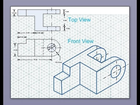 Isometric View Drawing Isometric Drawing Tutorial