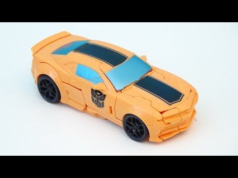 Transformers 4 Bumblebee One Step Changers 2014 Camaro Concept Video Toy Review video