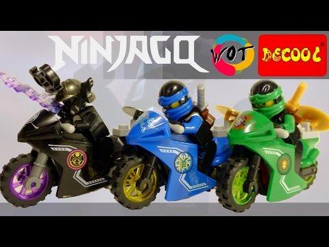 Китайское Лего ниндзяго на мотоциклах Гармадон, Ллойд и Джей от Decool