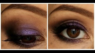 Макияж с тенями MAC (electric cool eye shadow) оттенок Highly Charged