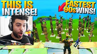 "I Hosted The WORLDS BIGGEST ""Fastest 90s"" Competition! (It Got INTENSE!) - Fortnite Battle Royale"