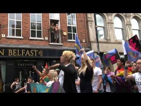 More video highlights from the Belfast Pride Parade 2016