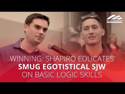 WINNING: Shapiro educates smug egotistical SJW on basic logic skills