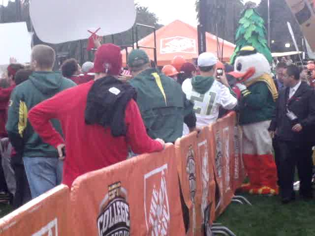 The Oregon Duck at ESPN College Gameday 11-12-2011