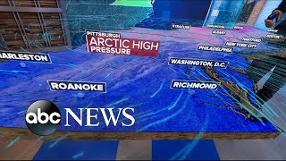 Arctic blast and snow in the East l ABC News