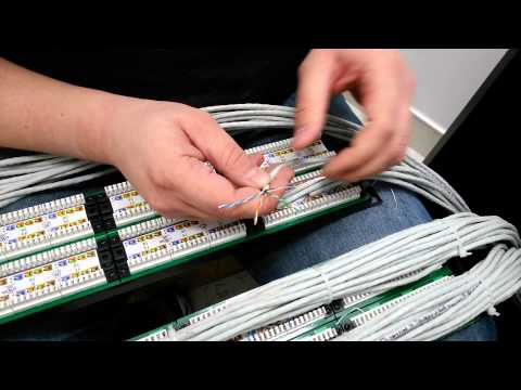 Termination-Patch Panel Tutorial.mov. Демонстрация качества патч-панели SN