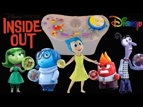 Disney Inside Out Movie Toys - The Console playset Joy, Sadness, Disgust, Anger and Fear