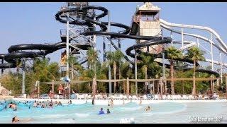 Tour of Hurricane Harbor Water Park in HD - Six Flags Hurricane Harbor