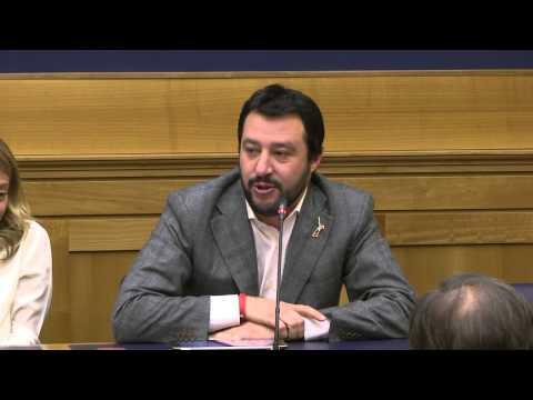 Conferenza stampa - Salvini: Il nostro candidato è Vittorio Feltri