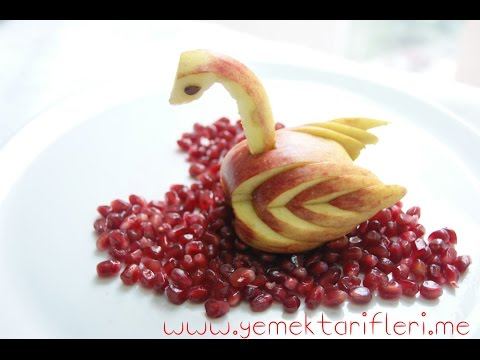 Elmadan Kuğu Yapımı (Meyve Sunumu)