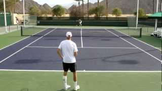 Nikolay Davydenko Practice 2012 BNP Paribas Open Indian Wells in HD