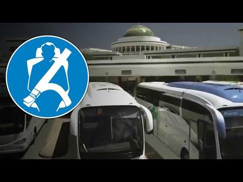 أهمية حزام السلامة على متن حافلات نقل المسافرين