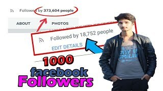 How to increase followers on facebook |  Auto followers on Facebook 2018