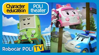 Character education | Poli theater | It's bad to split sides with your friends.