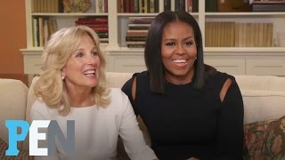 Michelle Obama & Dr. Jill Biden On Their Husbands' Bromance & More | PEN | Entertainment Weekly