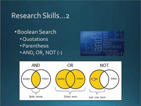 Research Skills Lesson 2, Part 2: Text Features and Boolean Search