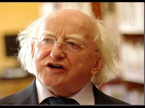 Michael D Higgins calling Michael Graham a Wanker