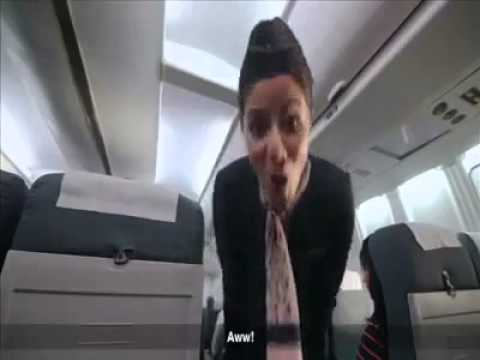 Funny Flight Attendant - Fuck You! video
