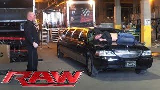 Brock Lesnar brutally attacks Dean Ambrose before Raw