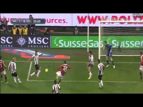 Mario Balotelli Debut Goal ( Ac Milan Vs Udinese ) 1-0 HD